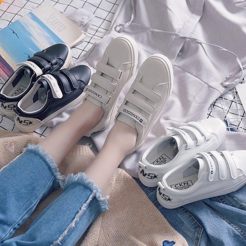 Магия субсидии маленький белый 2018 новый шаблон Джокер в Корейском стиле обувь для учащихся парусиновая обувь женские Dream Match F179