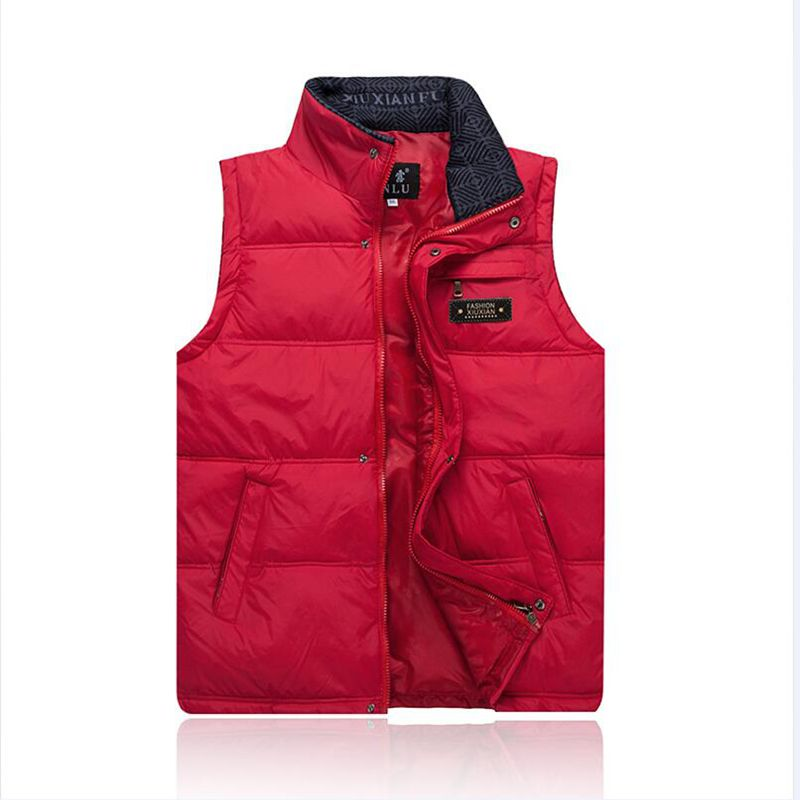 Brieuces Middle-aged men fall and winter down vest male middle-aged father loaded thick warm waistcoat vest male vest big yards