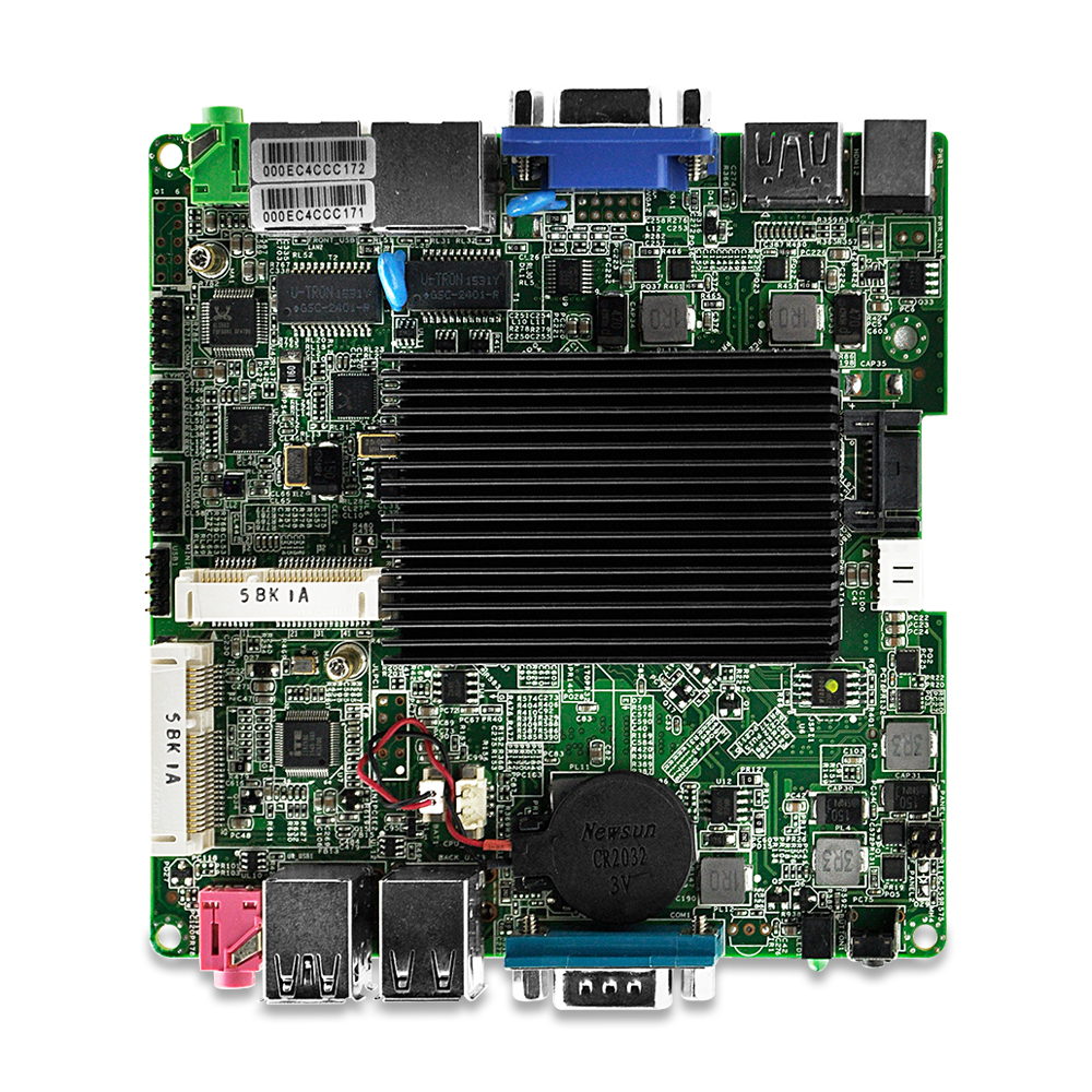 Dual Lan 4*Serial Port Nano itx board ,Celeron J1900 Quad core ,Fanless, DC 12V 12*12 CM use for MINI PC,Vending Machine