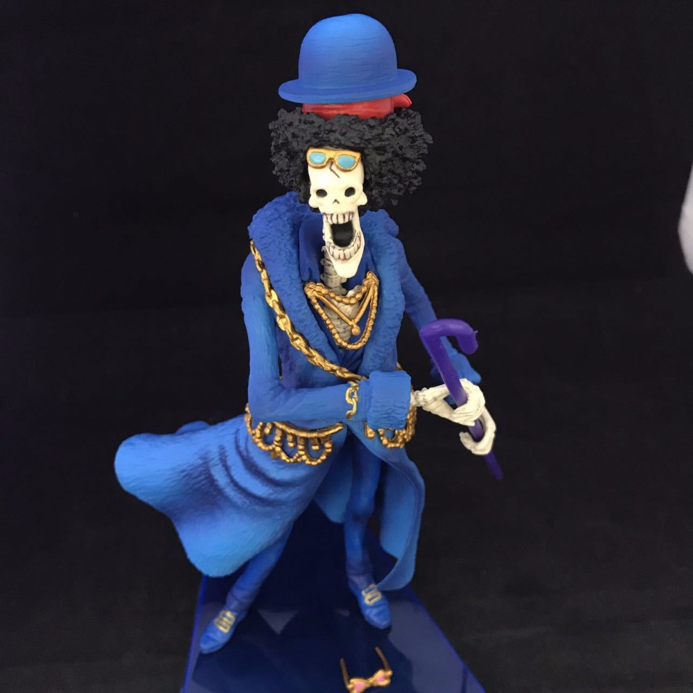 Free Shipping 8 One Piece Anime 20th Anniversary Brook Boxed 21cm PVC Action Figure Collection Model Doll Toy Gift anime one piece dracula mihawk model garage kit pvc action figure classic collection toy doll