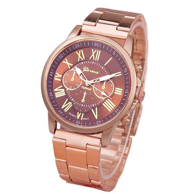 2017 New Brand 3 Eyes Rose Gold Geneva Casual Quartz Watch Women Stainless Steel Dress Watches Relogio Feminino Ladies Clock Hot