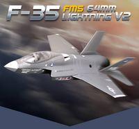 F-35 (EPO) V2 698mm RC Uçak Sabit Kanatlı Uçak Kanat Açıklığı 64mm Kanallı Jet Avcı Modeli