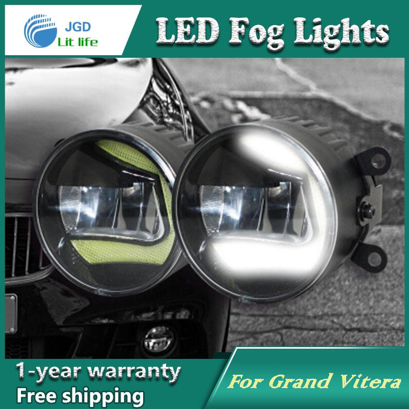 Супер Белый светодиодные фары дневного света для Сузуки Гранд Витера DRL свет бар парковка автомобилей Противотуманные фары 12 В DC фара