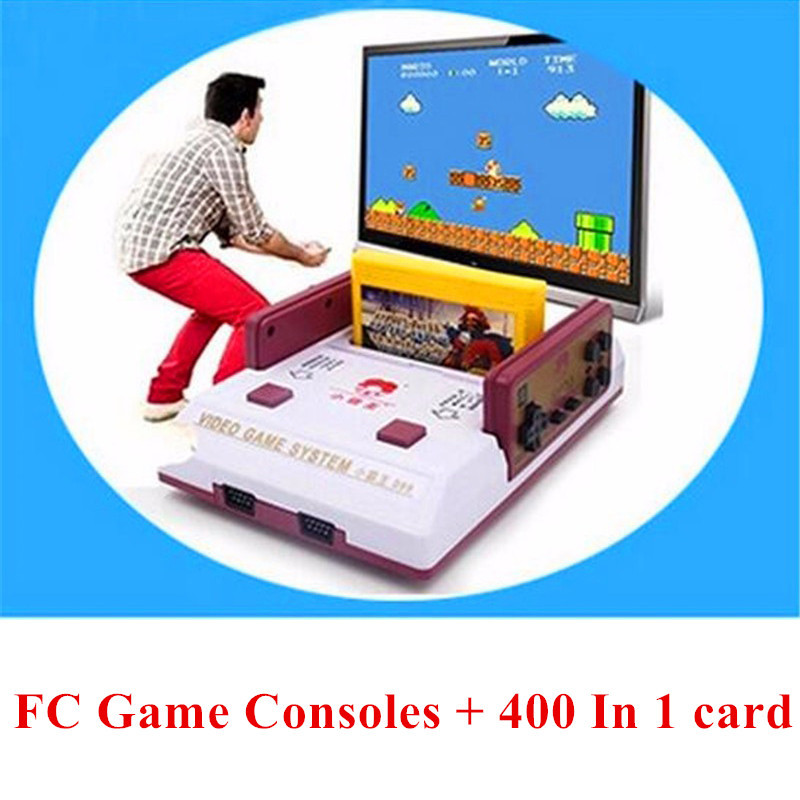 Reminiscence Classical Subor TV Game Player D99 Family Interaction Game Consoles Contra Gaming Console + 400 in 1 Game card