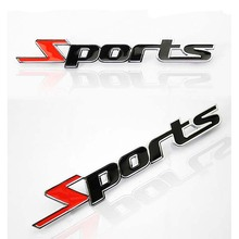 Sports Emblem Car Motorcycle Sticker 3D Metal Chrome Letters Decal Styling Accessories for fiat 500 opel