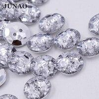 JUNAO 100 шт. 13 мм прозрачный Белый Акрил Стразы пуговицы для шитья круглый кристалл кнопка для DIY костюмы вышитый Декор