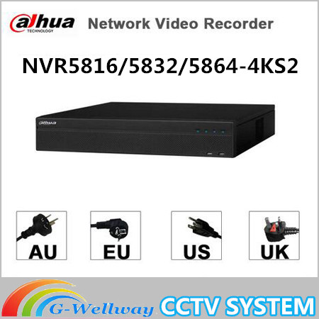 Dahua 16CH 32CH 64CH 2U 4K H 265 Network Video Recorder NVR5816 4KS2 NVR5832 4KS2 NVR5864