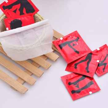 10Pcs/Set Creative Tricky Joke Funny Condom Shape Wet Wipes Towel Sexy Lady Printed Potable Individually Wrapped Gift
