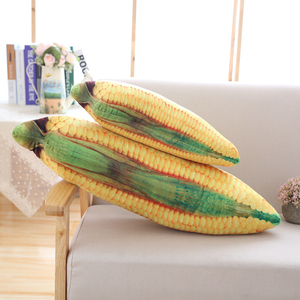 Image 3 - Almohada de maíz de 50/80CM, juguete de felpa relleno de frutas y verduras creativo, almohada de sofá casero, cojín de decoración