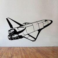 الفضاء مكوك الفضاء جدار الشارات الفينيل الفن ملصقات الحائط ديكور المنزل للأطفال غرف الصواريخ الجداريات