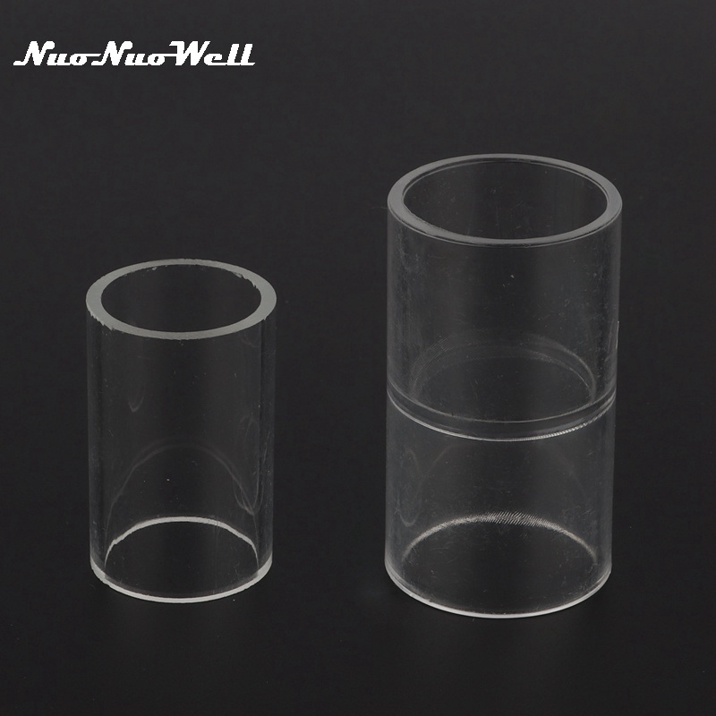 1pc 20mm 25mm Acrylic Straight Connector Transparent Pipe Coupling Water Pipe Connector Aquarium Fish Tank Accessories image