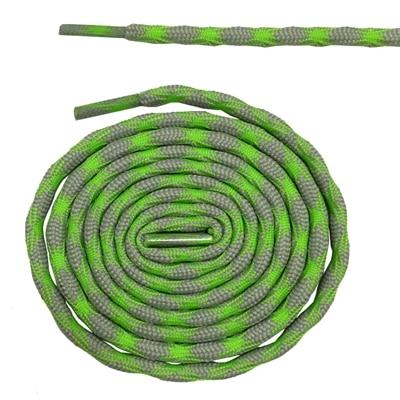 Нескользящие круглые шнурки для альпинизма разные цвета 120 см/47 дюймов - Цвет: Light green and gray
