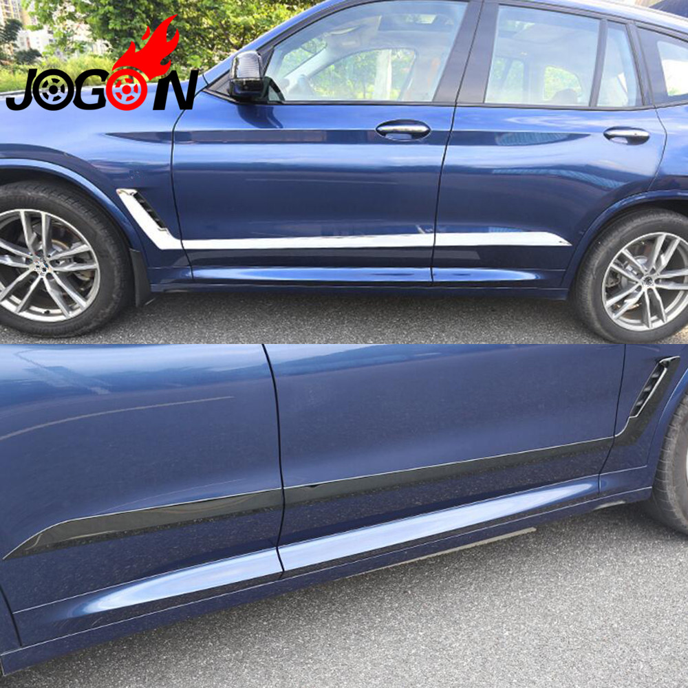 6 шт. Нержавеющаясталь двери автомобиля тела сбоку накладка формования Бампер протектор для BMW X3 G01 2018 2019