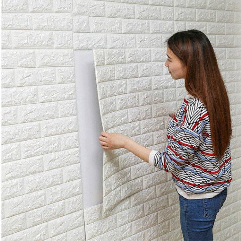 Современные DIY самоклеющиеся 3D Наклейки на стену кирпич Водонепроницаемый Обои номер Домашний декор для детей Спальня Обои в гостиную