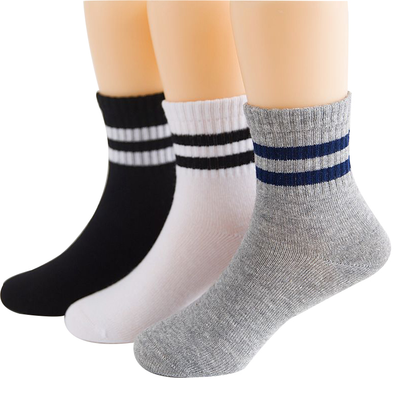 2019 New Autumn Winter Children Socks Korean Cotton Stripes Boys Socks Girls Socks 3-15 Year Kids Socks 3 Pairs / Lot