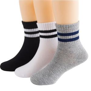 2019 New Autumn winter Children Socks Korean Cotton Stripes Boys Socks Girls Socks 3-15 Year Kids Socks 3 Pairs / Lot(China)
