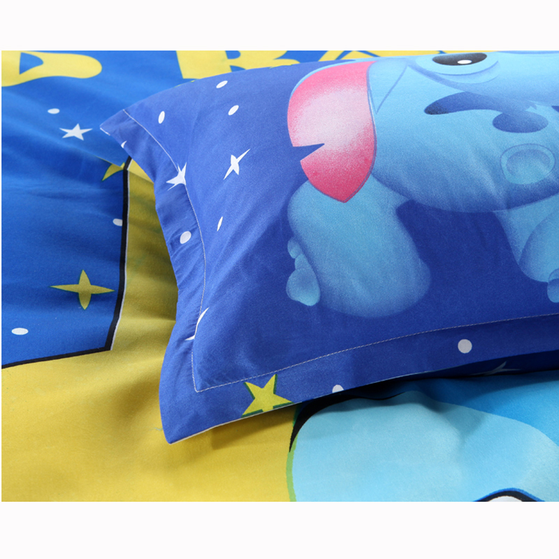 Disney Lilo and Stitch Bedding Set 3/4 Pieces Blue Comforter Cover 3D Children Bedroom Decor for 1.5m Bed 4