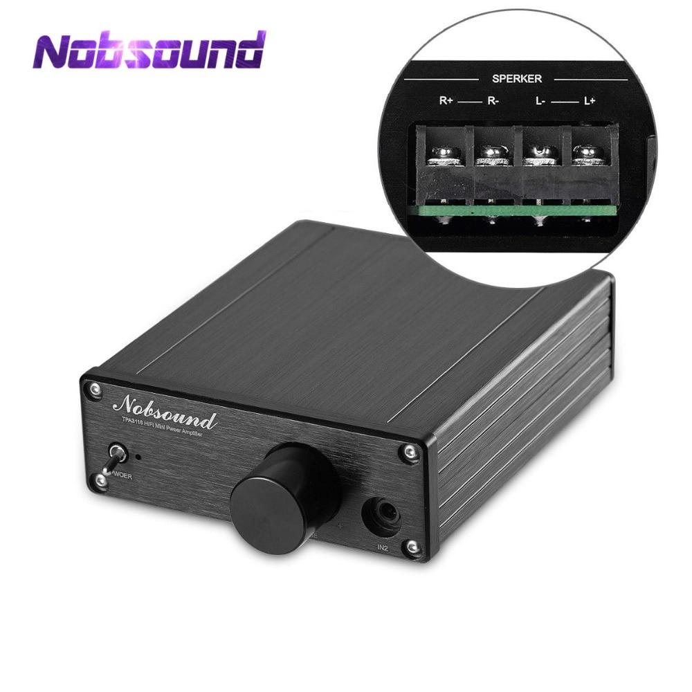 Nobsound 100W*2 Mini Digital Amplifier Hi-Fi TPA3116 Stereo 2.0 Channel Audio Power Amp
