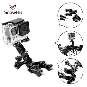 Image 2 - Snowhu場合のgoproアクセサリーバイクオートバイハンドルシートポストポールマウントホルダー3ウェイ調節可能なピボットため9 8 7 6 5 GP02