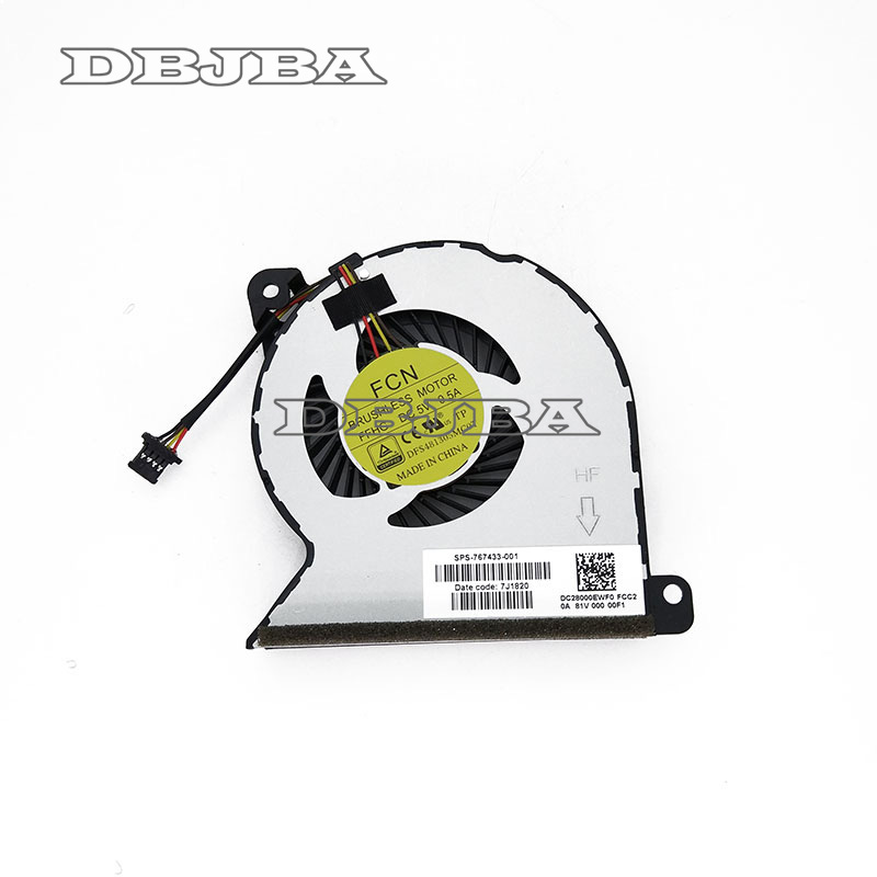 Original for HP ProBook 450 G2 455 440 445 G1 470 767433-001 cpu cooling fan MF60070V1-C350-S9A 734085 601 734085 501 for hp probook 450 g1 notebook for hp 450 440 g1 motherboard 734085 001 48 4yw04 011 48 4yw05 011 tested