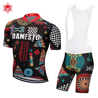 2018 Pro Cycling Jersey Bicycle Clothing Short Sleeve Bib Shorts Quick Dry Breathable Ropa Ciclismo