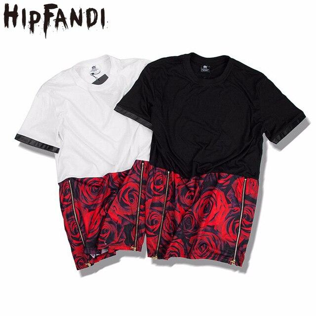 Hip Fandi camisetas para hombre moda 2018 Hip Hop cremallera lateral alta  moda estilo Hip Hop 1bfcd5c55fd