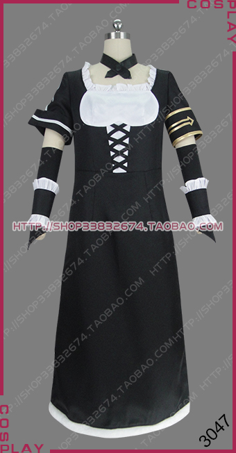 Details about  /Overlord Werewolf Battle Maid Lupusregina Beta Dress Outfit Cosplay Costume @