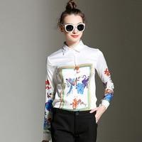 New Long Sleeve Autumn Women S All Match Europe T Floral Women Fashion Shirt XFN7024