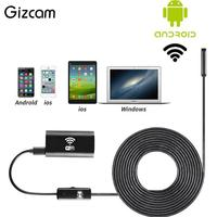 Gizcam Wifi For IOS Android Endoscope HD 720P 2 0MP 8mm 5M Waterproof Inspection Camera For