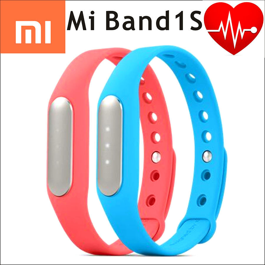 100 Original Xiaomi Mi Band 1S pulse miband fitness tracker heart rate IP67 Smart Bluetooth 4