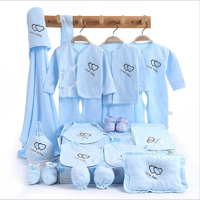 35403cdcf 100% cotton 15piece  set Newborn baby gift set long sleeve solid ...