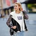 Veri Gude Women's Faux Leather Coat Fleece Liner Bomber Jacket Wide Faux Fur Collar Asymmetrical Zipper Front