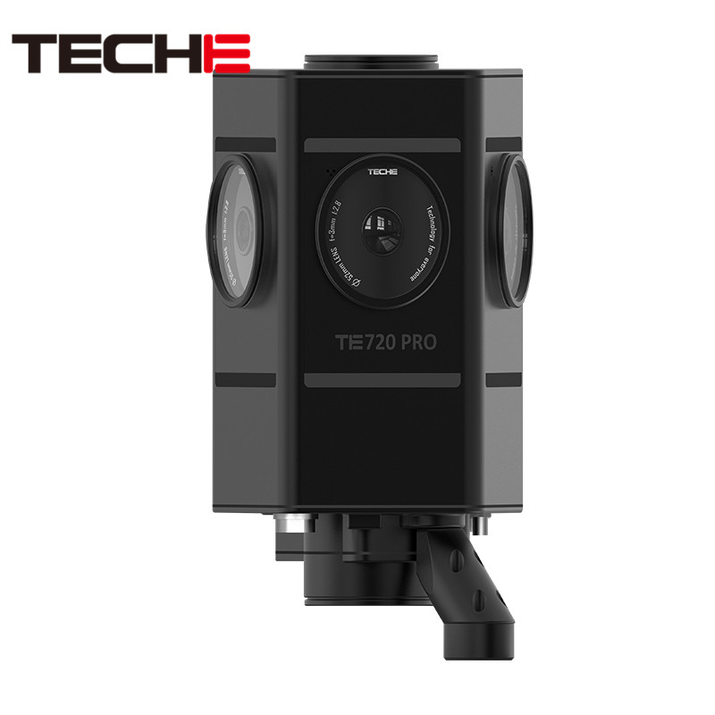 Teche Te720 Pro Экшн камера VR 360 панорамный камера 7 объектив 100 миллионов пиксели для Iphone и Android 8 к 3D Professional класс