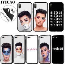 IYICAO James Charles X Blank Canvas Soft Silicone Phone Case for iPhone XR X XS 11 Pro Max 6 6S 7 8 Plus 5 5S SE TPU Black Cover(China)