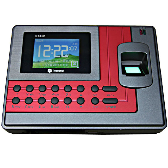 Realand A-C110 2.8 TFT Fingerprint Time Attendance Clock Employee Payroll Recorder 3 Identification