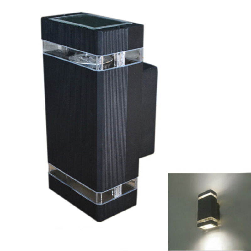 ФОТО 1pcs LED Waterproof Outdoor Modern Wall Light Mounted 8W outdoor sconces AC85-265V Aluminum Wall Lamp outdoor porch lighting