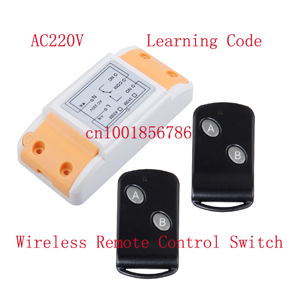 AC220V 10A 1CH universal gate rf remote control switch wireless remote switch smart home automation control z-wave 330mhz 8 dip switch 5326 auto gate duplicate remote control