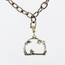50pcs Tibetan silver Zinc alloy cloud Lobster claw clasp Pendants Fit Bracelet 35.5*22mm D8990