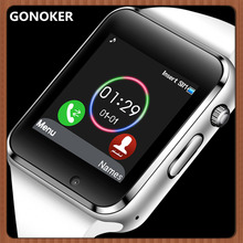 GONOKER Smart часы спортивные наручные часы с камера сим-карта циферблат вызова Синхронизация SMS Сенсорный экран Смарт-часы для Apple IOS Android