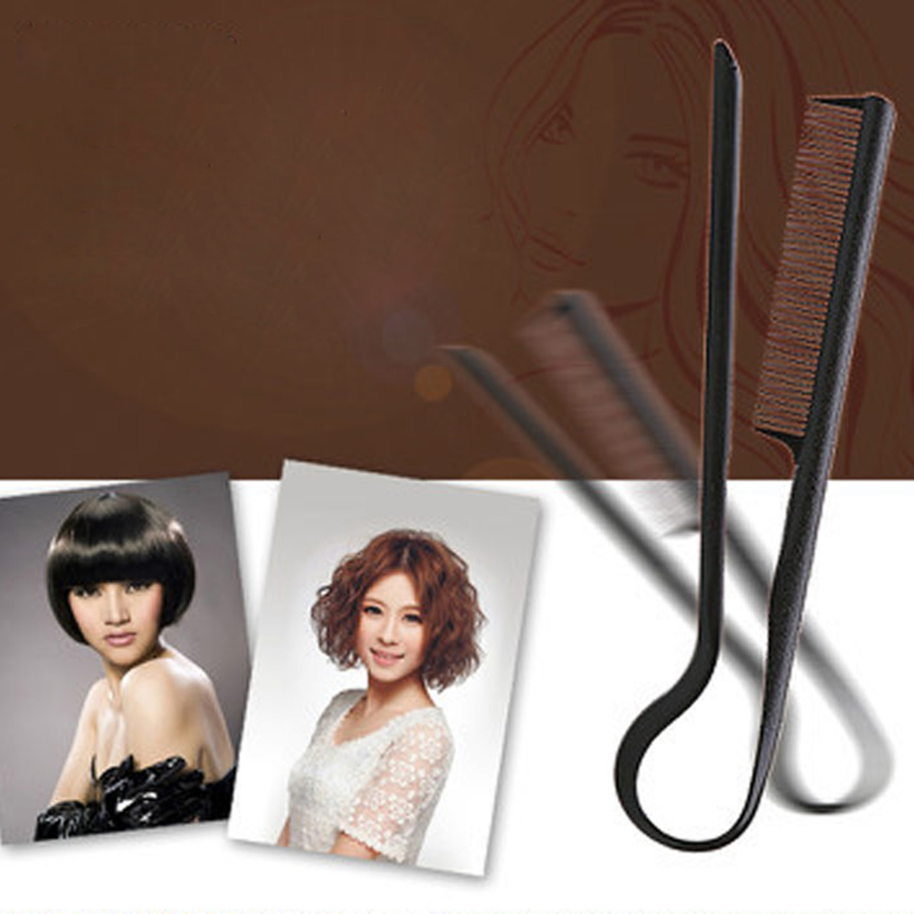 DIY Styling Straightening V Comb Clip-Type Hairdressing Hair Straightener with black color Fashion