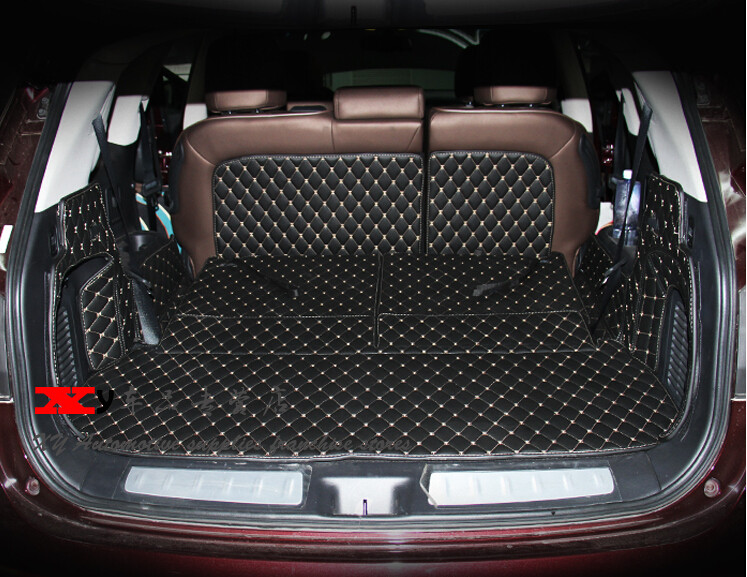 Top Quality Special Trunk Mats For Nissan Pathfinder 7seats 2016 Waterproof Boot Carpets 2017