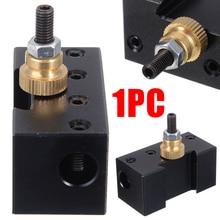 цена на 1Pcs Grooving Cut Off Tool  3/8 Lathe Quick Change Tool Post Boring Bar Carbide Tipped Bar Tool Holder 49x49x24mm