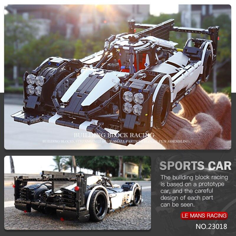 Oyuncaklar ve Hobi Ürünleri'ten Bloklar'de 23018 Teknik oyuncak arabalar Ile Uyumlu Moc 5530 Hibrid Süper Yarış Hızlı Araba Blokları Tuğla Yapı Çocuklar oyuncak araba Modeli Hediyeler'da  Grup 2