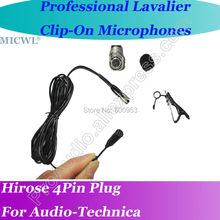 MICWL ME2 Wireless Lavalier Lapel Microphone for Audio-Technica BeltPack Mic System Hirose 4Pin plus