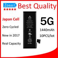 10pcs Lot Original Quality 0 Zero Cycle Battery For IPhone 5 5G 1440mAh 3 7V Replacement
