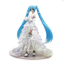 Anime FREEING Wedding dress Sexy girls Hatsune Miku PVC Action Figurine toys Anime figure недорого