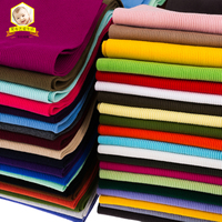 2018 Tecidos Patchwork Fabric Free Shipping Qiu Dong's Thick Cotton Knitting Thread Cloth, Cuff Hem Down Jacket Collar Fabrics