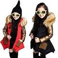 Зима ЗИМНЯЯ пуховик зимний детский шубу вниз верхней одежды одежду толстые дети парка и куртка для зимой хлопка, костюмы, костюмы пальто детские зимние куртки девочки зимнее девочек детская одежда Ветровка женская
