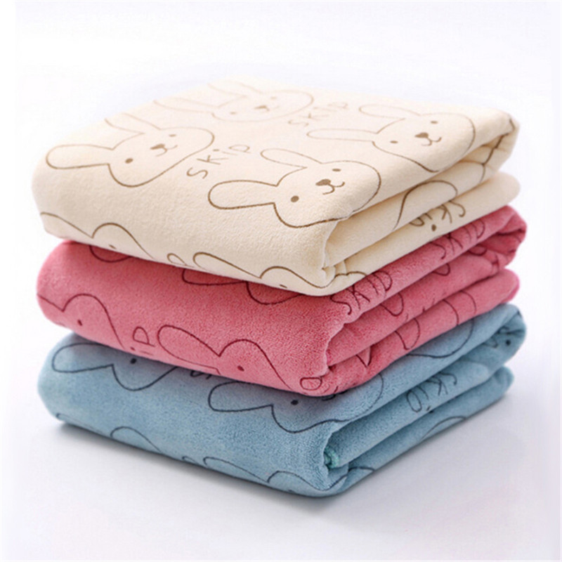 3pcs Soft Microfiber Baby Child Kid Bath Towels Brushed Strong Absorbent Dry Washcloth For Kids Childern ...
