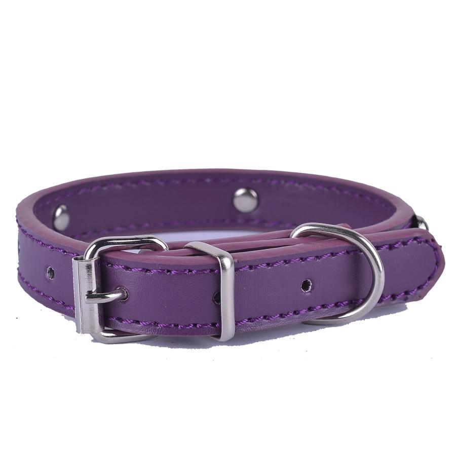 Мода 8 Цвета ПУ кожа Pet ошейник для щенка кошка Чихуахуа маленькая собака шейный ремень Регулируемый Размеры XS размеры S, M, L большая распрода...